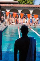 Occidental College swim team vs. Cal Lutheran, Feb. 1, 2014 at Taylor Pool.<br />