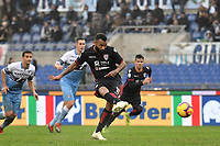 Joao Pedro of Cagliari scores a goal on penalty during the Serie A 2018/2019 football match between SS Lazio and Cagliari at stadio Olimpico, Roma, December 22, 2018 <br />  Foto Andrea Staccioli / Insidefoto