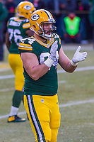 Green Bay Packers defensive end Dean Lowry (94) prior to a game against the New York Giants on January 8th, 2017 at Lambeau Field in Green Bay, Wisconsin.  Green Bay defeated New York 38-13. (Brad Krause/Krause Sports Photography)