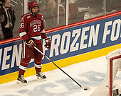 Jacob Olson (Harvard - 26) - The University of Minnesota Duluth Bulldogs defeated the Harvard University Crimson 2-1 in their Frozen Four semi-final on April 6, 2017, at the United Center in Chicago, Illinois.
