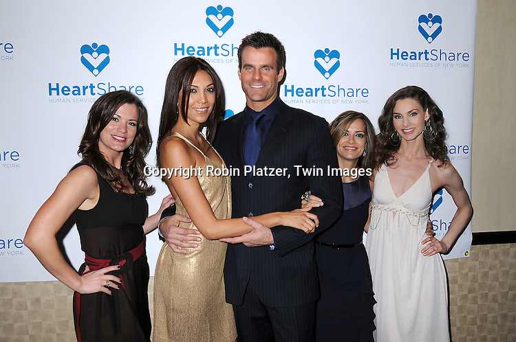 "Melissa Claire Egan, Vanessa and  Cameron .Mathison,Rebecca Budig and Alicia Minshew.at The HeartShare Human Services of New York Spring Gala and Auction on April 8, 2008 at The Marriott .Marquis Hotel in New York City. Cameron Mathison of ""All My Children""  and Tony Sirico of ""The Sopranos"" were honored. ..Robin Platzer, Twin Images"