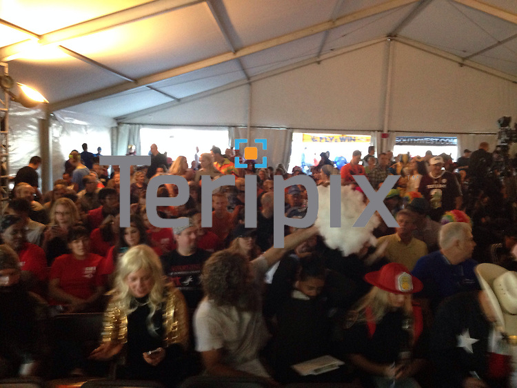 the crowd, during Southwest Airlines' The Spirit of  Halloween show on Thursday, Oct. 31, 2014 at the company headquarters in Dallas, Texas.