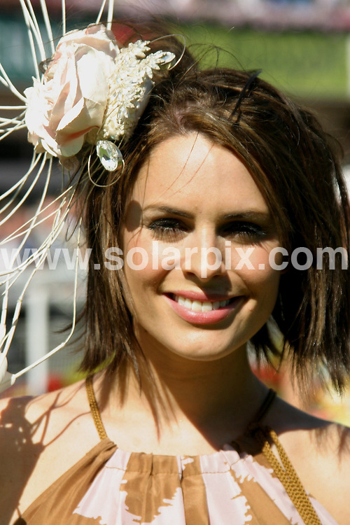 **ALL ROUND PICTURES FROM SOLARPIX.COM**.**WORLDWIDE SYNDICATION RIGHTS**.The Coronation street and Echo beach actress Suzy Amy who also stared in Footballers wives attended the Sandown horse races yesterday as a judge for the best dressed lady competition which was later won by Maria cheslin..This pic:Suzy Amy..JOB REF:6779- NYA     DATE:05_07_08.**MUST CREDIT SOLARPIX.COM OR DOUBLE FEE WILL BE CHARGED* *UNDER NO CIRCUMSTANCES IS THIS IMAGE TO BE REPRODUCED FOR ANY ONLINE EDITION WITHOUT PRIOR PERMISSION*