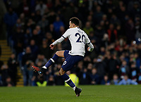 7th March 2020; Turf Moor, Burnley, Lanchashire, England; English Premier League Football, Burnley versus Tottenham Hotspur; Dele Alli of Tottenham Hotspur shoots and scores from the penalty spot after 50 minutes to make the score 1-1