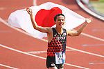 Hiroto Inoue (JPN), <br /> AUGUST 25, 2018 - Athletics - Marathon : <br /> Men's Marathon Final <br /> at Gelora Bung Karno Main Stadium <br /> during the 2018 Jakarta Palembang Asian Games <br /> in Jakarta, Indonesia. <br /> (Photo by Naoki Nishimura/AFLO SPORT)