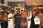 Friends with Guiding Light's Yvonna Kopacz Wright and husband Brett Wright as owners of Lomar Farms in Palisades, New York where they are beekeepers as they make beeswax candles and other products. Tonight May 4, 2018 they presented them at NiLu - gifts - lifestyle - home in Harlem where attendees viewed them, chatted, bought them. For more information go to www.lomarfarms.com. (Photo by Sue Coflin/Max Photo)