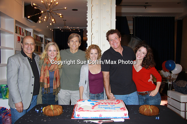 Guiding Light's Thom Christopher, Caitlin vanZandt, Grant Aleksander, Liz Keifer, Michael O'Leary and Jennifer Roszell at the Daytime Stars and Strikes Charity Event to benefit the American Cancer Society at the Bowlmore Lanes, New York City, New York. (Photo by Sue Coflin/Max Photos)