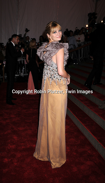 "Mischa Barton .arriving at The Costume Institute Gala of The Metropolitan Museum of Art on May 5, 2008. The costume exhibit was .""Superheroies: Fashion and Fantasy...Robin Platzer, Twin Images"