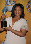 LOS ANGELES, CA. - January 23: Mo'Nique poses in the press room at the 16th Annual Screen Actors Guild Awards held at The Shrine Auditorium on January 23, 2010 in Los Angeles, California.