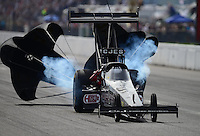 Sept. 30, 2012; Madison, IL, USA: NHRA top fuel dragster driver Bob Vandergriff Jr during the Midwest Nationals at Gateway Motorsports Park. Mandatory Credit: Mark J. Rebilas-