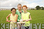Children enjoying the Ógras Summer Camp at the Caherslee GAA Grounds and Cumann Iosaef Centre on Thursday. Pictured left to right: Jasmine Ryle, Ciara Ryan and Claudia Ward..