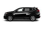Car Driver side profile view of a 2017 Honda CR-V EX-L 5 Door SUV Side View