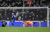 9th December 2017, St James Park, Newcastle upon Tyne, England; EPL Premier League football, Newcastle United versus Leicester City; Ayoze Pérez of Newcastle United scores an own goal past Karl Darlow of Newcastle United after heavy pressure from Shinji Okazaki of Leicester City in the 86th minute to make it 2-3
