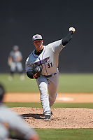 Winston-Salem Dash pitcher Caleb Frare (31) during a Carolina League game against the Carolina Mudcats on August 14, 2019 at Five County Stadium in Zebulon, North Carolina.  Winston-Salem defeated Carolina 4-2.  (Mike Janes/Four Seam Images)