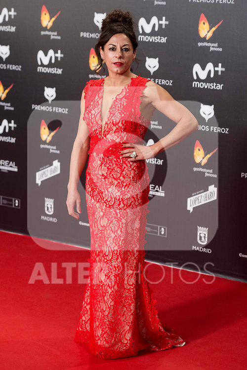 Cristina Medina attends red carpet of Feroz Awards 2018 at Magarinos Complex in Madrid, Spain. January 22, 2018. (ALTERPHOTOS/Borja B.Hojas)