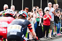 Picture by SWpix.com - 04/05/2018 - Cycling - 2018 Tour de Yorkshire - Stage 2: Barnsley to Ilkley - Yorkshire, England - Fans and supporters cheer on the riders.