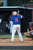 Jeremy Green (6) of Mooresville Post 66 at bat against Kannapolis Post 115 during an American Legion baseball game at Northwest Cabarrus High School on May 30, 2019 in Concord, North Carolina. Mooresville Post 66 defeated Kannapolis Post 115 4-3. (Brian Westerholt/Four Seam Images)