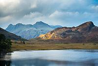Blea Tarn lake near Little Langdale in the Lake District, Cumbria, UK
