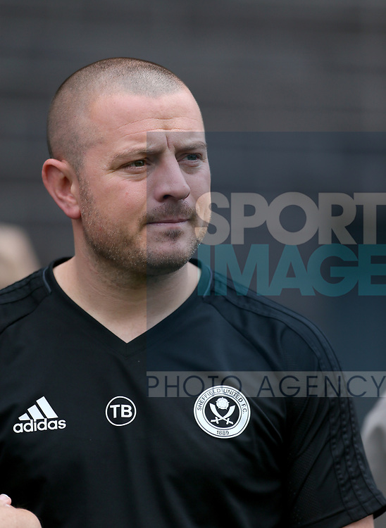 Travis Binnion manager of Sheffield Utd U23's during the pre season match at the Flamingo Land Stadium, Scarborough. Picture date 15th July 2017. Picture credit should read: Richard Sellers/Sportimage