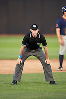 Umpire Brandon Mooney during a game between the Bowing Green Hot Rods and Quad Cities River Bandits on July 24, 2016 at Modern Woodmen Park in Davenport, Iowa.  Quad Cities defeated Bowling Green 6-5.  (Mike Janes/Four Seam Images)