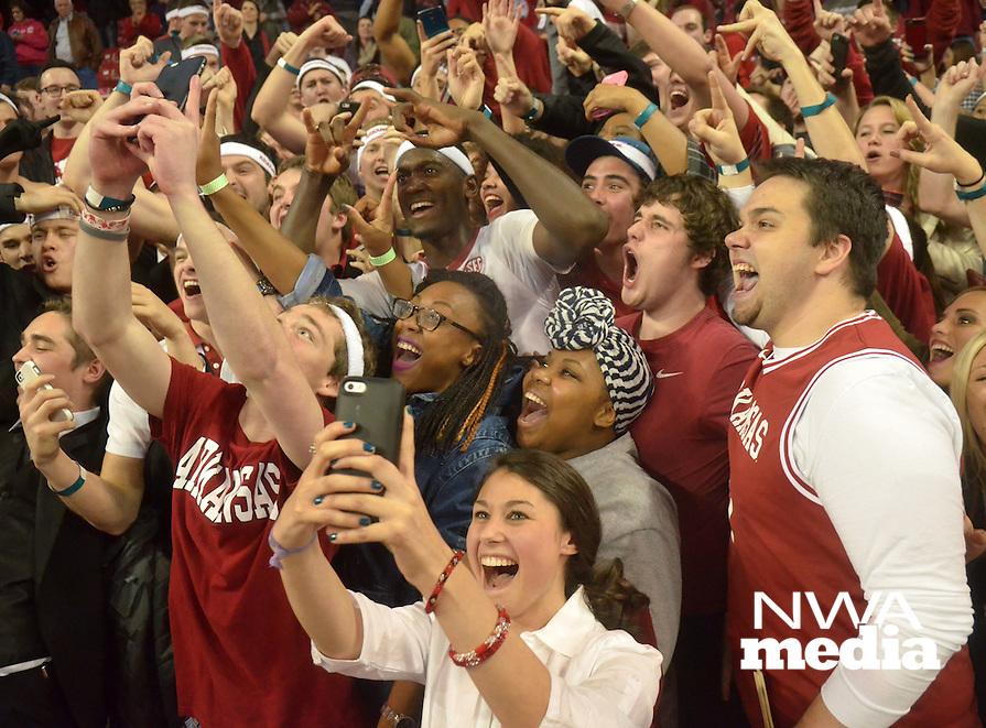 NWA Democrat-Gazette/Michael Woods --01/06/2015--w@NWAMICHAELW... University of Arkansas Razorbacks vs the Alabama Crimson Tide during the Razorbacks 93-91 overtime victory during Thursday nights game at Bud Walton Arena in Fayetteville.