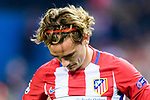 Antoine Griezmann of Atletico de Madrid reacts during their 2016-17 UEFA Champions League Quarter-Finals 1st leg match between Atletico de Madrid and Leicester City at the Estadio Vicente Calderon on 12 April 2017 in Madrid, Spain. Photo by Diego Gonzalez Souto / Power Sport Images