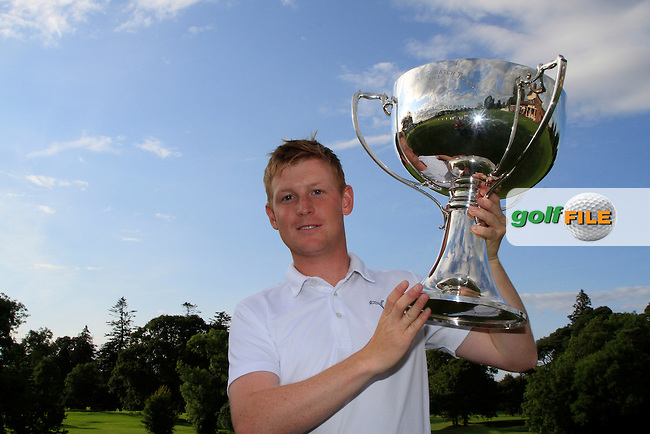Geoff Lenehan (Portmarnock) winner of The Mullingar Electrical Scratch Trophy in Mullingar Golf Club on Monday 4th August 2014.<br /> Picture:  Thos Caffrey / www.golffile.ie