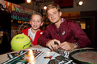 Rotterdam, The Netherlands, Februari 8, 2016,  ABNAMROWTT, David Goffin (BEL)<br /> Photo: Tennisimages/Henk Koster