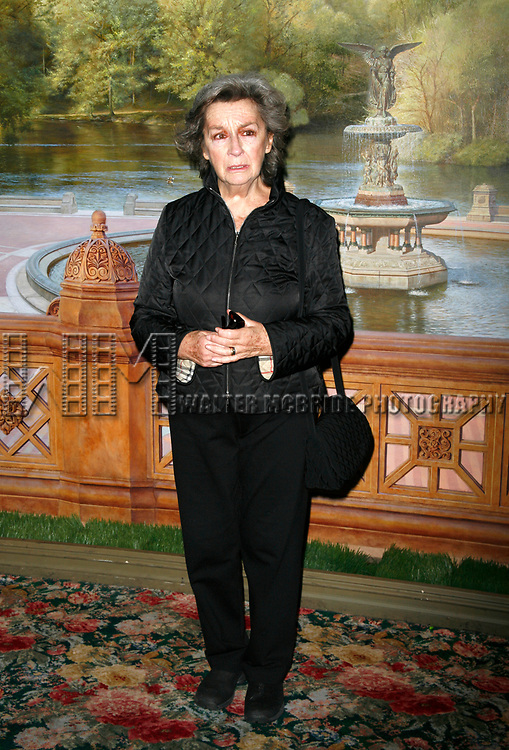 Zoe Caldwell attending the Neighborhood Playhouse School of the Theatre's 80th Anniversary Gala and Reunion at Tavern On The Green Restaurant in New York City.<br />