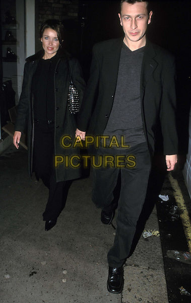DANNI MINOGUE & BOYFRIEND, CRAIG (EX BROS..Mel B joins cast of The Vagina Monolgues. Danni Minogue & Boyfriend, Craig (ex-bros)..Ref: 11506..holding hands, black jackets, blak coats..www.capitalpictures.com..sales@capitalpictures.com..©Capital Pictures..full length, full-length