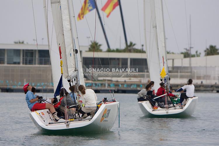 CAMPEONATO DE ESPAÑA DE MATCH RACE FEMENINO, 7-10 Mayo 2009. Marina Real Juan Carlos I, Valencia