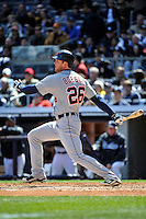 Apr 03, 2011; Bronx, NY, USA; Detroit Tigers outfielder Brennan Boesch (26) during game against the New York Yankees at Yankee Stadium. Tigers defeated the Yankees 10-7. Mandatory Credit: Tomasso De Rosa