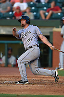 Jacksonville Suns left fielder Brady Shoemaker #20 swings at a pitch during the Southern League All Star game at AT&T Field on June 17, 2014 in Chattanooga, Tennessee. The Southern Division defeated the Northern Division 6-4. (Tony Farlow/Four Seam Images)