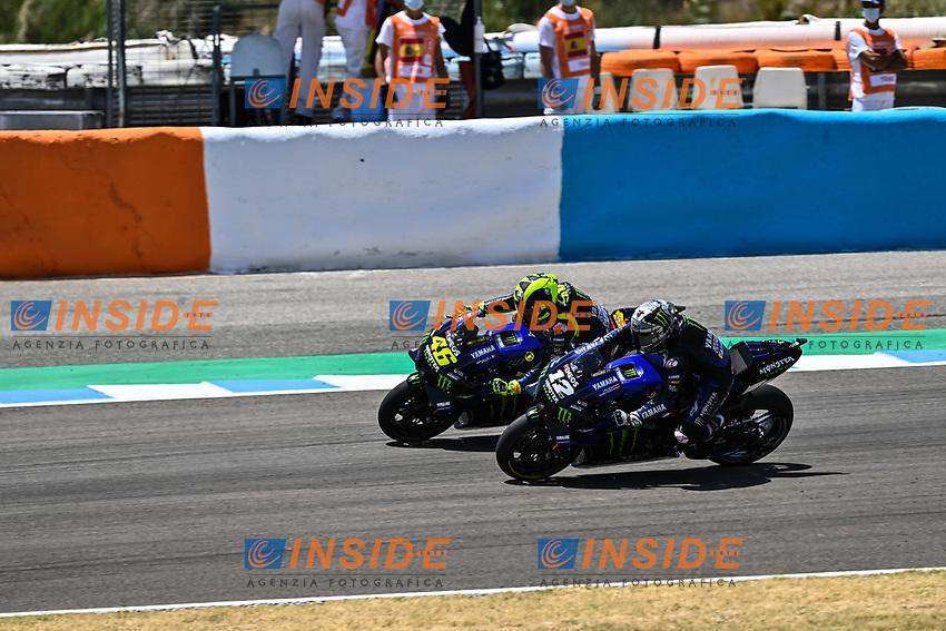 Valentino Rossi Yamaha , Maverick Vinales Yamaha <br /> Jerez 26/07/2020 Moto Gp Andalucia 2020 / Spain<br /> Photo Yamaha Press Office / Insidefoto <br /> EDITORIAL USE ONLY