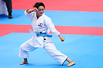 Kiyou Shimizu (JPN), <br /> AUGUST 25, 2018 - Karate : <br /> Women's Individual Kata final <br /> at Jakarta Convention Center Plenary Hall <br /> during the 2018 Jakarta Palembang Asian Games <br /> in Jakarta, Indonesia. <br /> (Photo by Naoki Nishimura/AFLO SPORT)