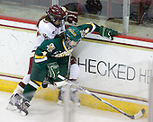 Caitlin Walsh (BC - 11), Saleah Morrison (Vermont - 4) - The University of Vermont Catamounts defeated the Boston College Eagles 5-1 on Saturday, November 7, 2009, at Conte Forum in Chestnut Hill, Massachusetts.