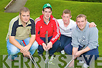 Enjoying the Ricky Kelly memorial tournament at Deerpark Pitch and putt club on Sunday were Damien Fleming, Eoin O'Donoghue, Kieran Murphy and James Fleming....