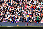 Luis Alberto Suarez Diaz (L) of FC Barcelona celebrates with teammate Sergi Roberto Carnicer during the La Liga 2017-18 match between Real Madrid and FC Barcelona at Santiago Bernabeu Stadium on December 23 2017 in Madrid, Spain. Photo by Diego Gonzalez / Power Sport Images