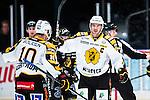 Stockholm 2013-12-07 Ishockey Elitserien AIK - Skellefte&aring; AIK :  <br /> Skellefte&aring;s Jimmie Ericsson jublar med m&aring;lskytten Skellefte&aring;s Joakim Lindstr&ouml;m efter 1-0<br /> (Foto: Kenta J&ouml;nsson) Nyckelord:  AIK Skellefte&aring; SAIK jubel gl&auml;dje lycka glad happy