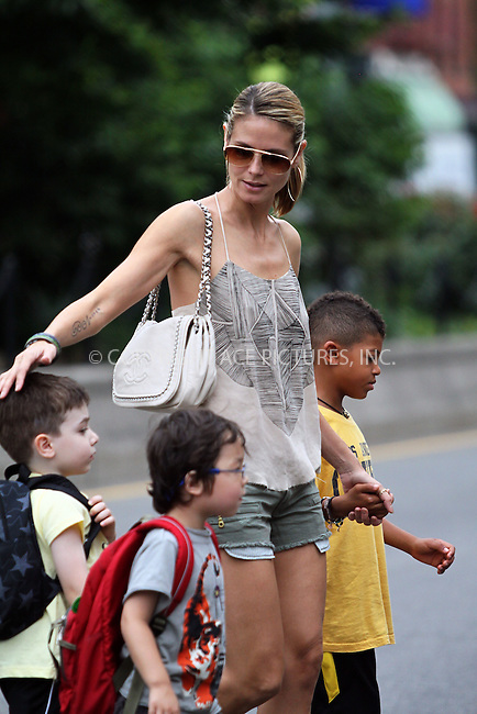 WWW.ACEPIXS.COM . . . . .  ......June 21 2011, New York City....Model Heidi Klum went to the Children's Aid Society and then shopping in Soho with her mother Erna and her sons Johan and Henry on June 21 2011 in New York City....Please byline: CURTIS MEANS - ACE PICTURES.... *** ***..Ace Pictures, Inc:  ..Philip Vaughan (212) 243-8787 or (646) 679 0430..e-mail: info@acepixs.com..web: http://www.acepixs.com