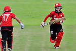 Natural Yip Sze Wan (r) of Hong Kong in action during the ICC 2016 Women's World Cup Asia Qualifier match between  Hong Kong and Nepal on 09 October 2016 at the Tin Kwong Road Cricket Recreation Ground in Hong Kong, China. Photo by Marcio Machado / Power Sport Images