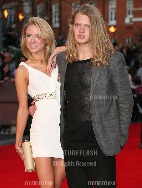 Frederick Ferrier and Rebecca Garner arriving for the Titanic 3D film premiere, Royal Albert Hall, London. 27/03/2012 Picture by: Alexandra Glen / Featureflash