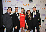 """Here Jillian poses with cast of Clutch - Days of Our Lives Jillian Claire """"Abigail Devereaux"""" is nominated as best actress - drama in Miss Behave and is a presenter at We Love Soaps and The Indie Series Network present the 4th Annual Indie Soap Awards - ISAs on February 19, 2013 from New World Stages, New York City, New York - (Photo by Sue Coflin/Max Photos)"""
