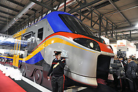- Expo Ferroviaria alla fiera di Milano-Rho; il nuovo treno regionale della serie Pop realizzato da Alstom per Trenitalia<br />