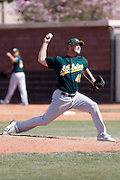 Chris Farley - Oakland Athletics - 2009 spring training.Photo by:  Bill Mitchell/Four Seam Images