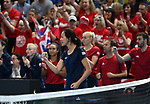 Anne Keithavong (Captain of the Great Britain team) celebrates. Rubber 2. Great Britain v Kazakhstan. World group II play off in the BNP Paribas Fed Cup. Copper Box arena. Queen Elizabeth Olympic Park. Stratford. London. UK. 20/04/2019. ~ MANDATORY Credit Garry Bowden/Sportinpictures - NO UNAUTHORISED USE - 07837 394578