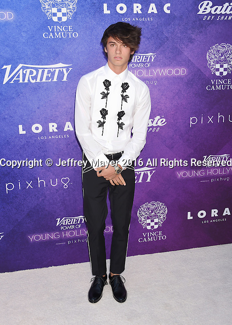 HOLLYWOOD, CA - AUGUST 16: Model Dylan Jagger Lee arrives at Variety's Power Of Young Hollywood at NeueHouse Hollywood on August 16, 2016 in Los Angeles, California.