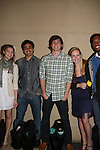 Guiding Light's Bonnie Dennison, EJ Bonilla, Zack Conroy, Caitlin Van Zandt & Lawrence Saint-Victor congratulate EJ Bonilla (C) (Younger Actor Emmy Nominee) at the 36h Annual Daytime Entertainment Emmy® Awards Nomination Party - Sponsored By: Good Housekeeping and The National Academy of Television Arts & Sciences (NATAS) on Thursday, May 14, 2009 at Hearst Tower, New York City, New York (Photo by Sue Coflin/Max Photos)....