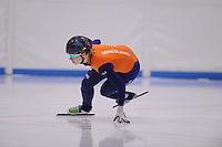 SCHAATSEN: LEEUWARDEN: 08-10-2015, Elfstedenhal, shorttrack time trial, ©foto Martin de Jong