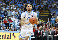 CHAPEL HILL, NC - FEBRUARY 25: Cole Anthony #2 of the University of North Carolina passes the ball during a game between NC State and North Carolina at Dean E. Smith Center on February 25, 2020 in Chapel Hill, North Carolina.